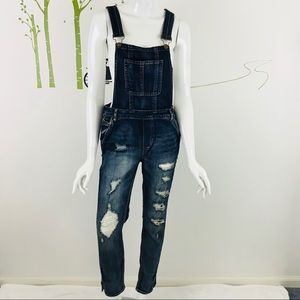 Dollhouse Distressed Denim Overall
